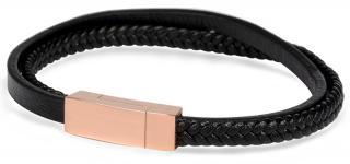Troli Dámsky kožený náramok s bronzovou sponou Leather