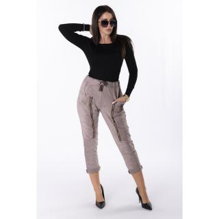 trousers with decorative zippers dámské Other One size