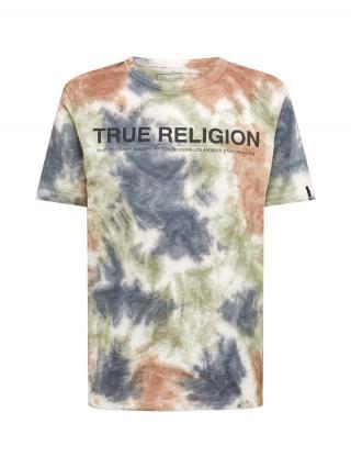 True Religion Tričko  biela / červená / modrá pánské L