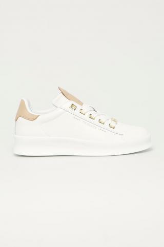 Trussardi Jeans - Kožená obuv dámské biela 36