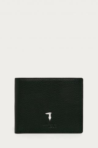 Trussardi Jeans - Kožená peňaženka pánské čierna ONE SIZE