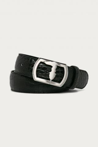 Trussardi Jeans - Kožený opasok pánské čierna 90