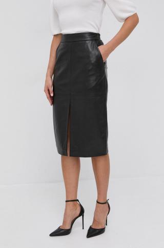 Trussardi - Kožená sukňa dámské čierna 38