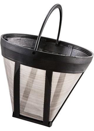 Trvanlivý filter na kávu čierna Ø 11,5 cm