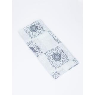 Turquoise scarf with oriental pattern and flowers dámské Neurčeno One size