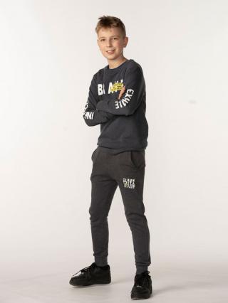 TXM BOY'S SWEATSHIRT pánské DARK GREY MELANGE 140