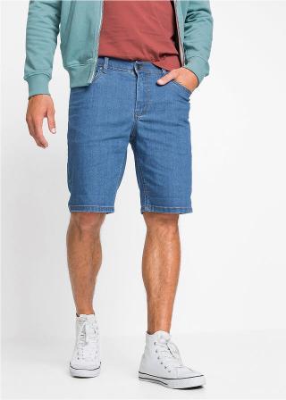 Udržateľné džínsové strečové bermudy s recyklovateľným polyesterom pánské modrá 54,46,48,50,52,56,58,60,62,64