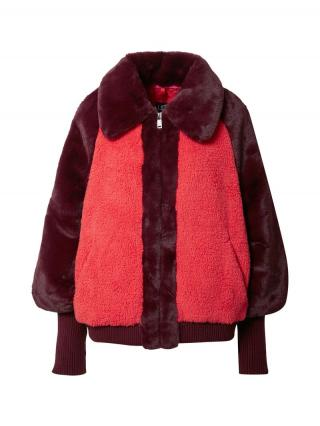 UGG Prechodná bunda Augusta Sherpa  vínovo červená / melónová dámské M