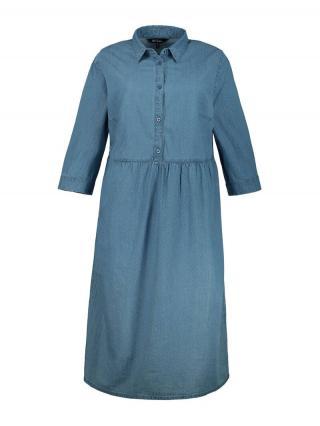 Ulla Popken Košeľové šaty  modrá denim dámské 42-44