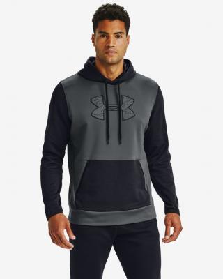 Under Armour Armour Fleece® Textured Big Logo HD Mikina Čierna pánské XS