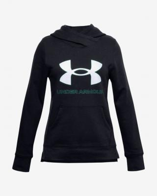 Under Armour Rival Fleece Logo Mikina detská Čierna dámské XS