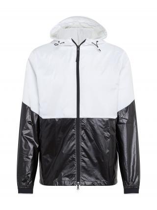 UNDER ARMOUR Športová bunda Recover  čierna / biela pánské S