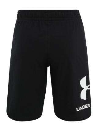 UNDER ARMOUR Športové nohavice  biela / čierna pánské XXL