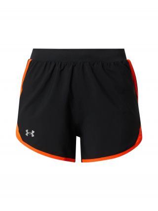 UNDER ARMOUR Športové nohavice  čierna / dymovo šedá / oranžovo červená dámské L