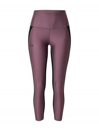 UNDER ARMOUR Športové nohavice  čierna / farba lesného ovocia dámské M