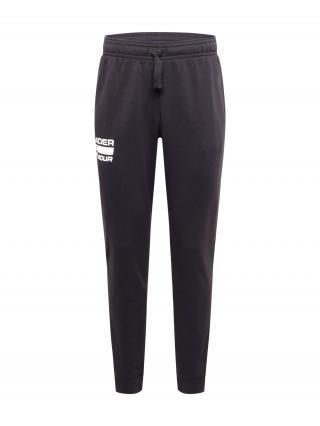 UNDER ARMOUR Športové nohavice Rival  čierna / biela / sivá pánské L