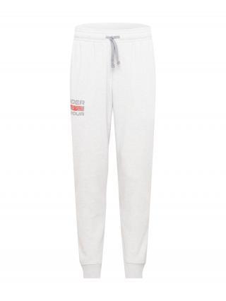 UNDER ARMOUR Športové nohavice Rival  sivá melírovaná / tmavosivá / svetločervená pánské L
