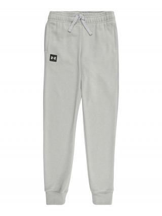 UNDER ARMOUR Športové nohavice RIVAL  svetlosivá / čierna pánské 116-122