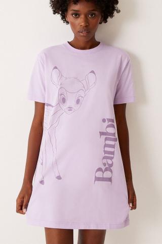 Undiz - Nočná košeľa ROCKBAMBIZ dámské fialová S