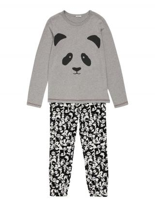 UNITED COLORS OF BENETTON Pyžamo  sivá / čierna / biela pánské 90