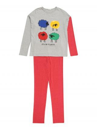 UNITED COLORS OF BENETTON Pyžamo  sivá / melónová / modrá / žltá / zmiešané farby dámské 104