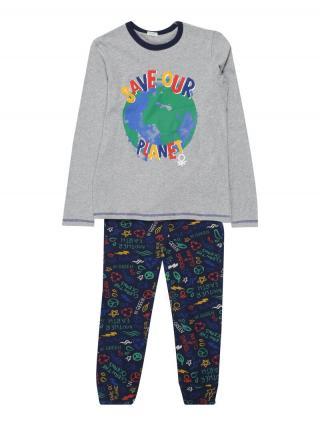 UNITED COLORS OF BENETTON Pyžamo  sivá / námornícka modrá pánské 90