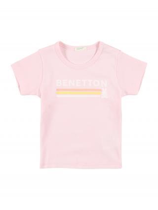 UNITED COLORS OF BENETTON Tričko  ružová / zmiešané farby 50