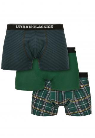 Urban Classics Boxerky  čierna / tmavozelená / biela / svetlosivá / žltá pánské M
