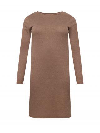 Urban Classics Curvy Pletené šaty  hnedá dámské XXL