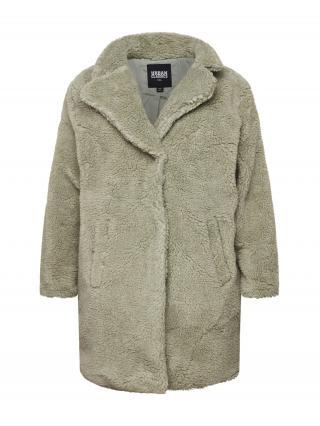 Urban Classics Curvy Prechodný kabát Sherpa  kaki dámské XXL