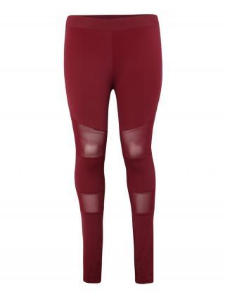 Urban Classics Legíny Ladies Tech Mesh Legging  vínovo červená dámské 4XL