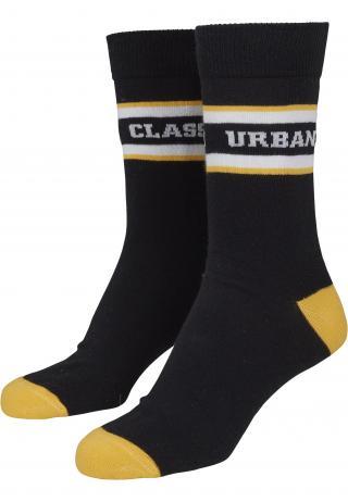 Urban Classics Ponožky  čierna / biela / žltá dámské 39-42