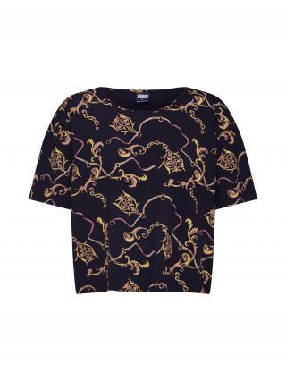 Urban Classics Tričko  čierna / zlatá dámské XS