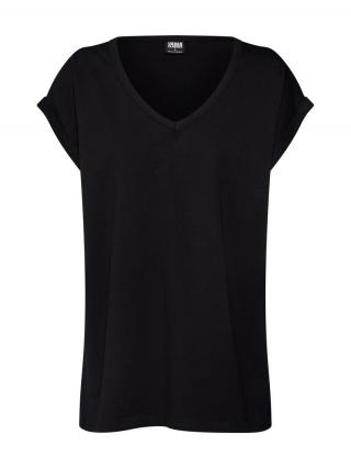 Urban Classics Tričko Ladies  čierna dámské XS