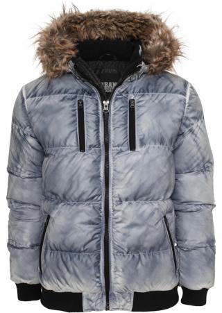 Urban Classics Zimná bunda  modrá denim pánské M