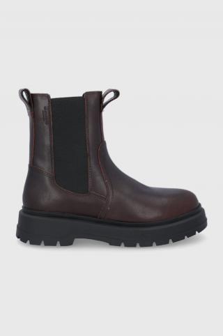 Vagabond - Kožené topánky Chelsea Jeff pánské hnedá 42
