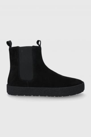 Vagabond - Semišové topánky Chelsea Fred pánské čierna 42
