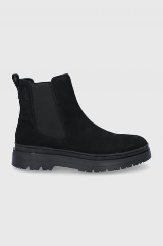 Vagabond - Semišové topánky Chelsea James pánské čierna 40