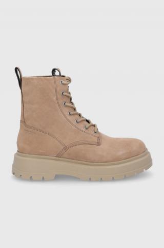 Vagabond - Semišové topánky Jeff pánské béžová 42