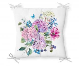 Vankúš na sedenie Minimalist Cushion Covers Pink Purple Flower 40x40 cm Ružová 40x40 cm