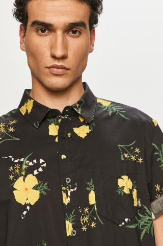 Vans - Bavlnená košeľa pánské čierna S