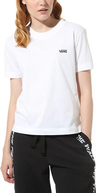 VANS Dámske tričko WM Junior V Boxy White VN0A4MFLWHT1 L