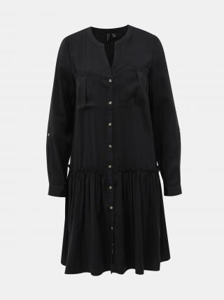 Vero Moda čierne košeľové šaty Michalla - XS dámské čierna XS