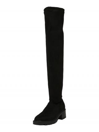 VERO MODA Čižmy nad koleno SELLA  čierna dámské 37