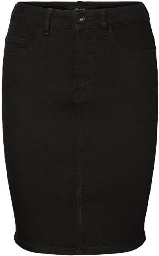 Vero Moda Dámska sukňa Hot Nine Hw Dnm Pencil Skirt Mix Noos Black S