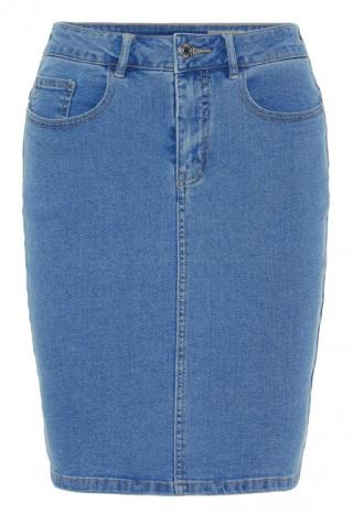 Vero Moda Dámska sukňa Hot Nine Hw DNM Pencil Skirt Mix Noos Light Blue Denim S