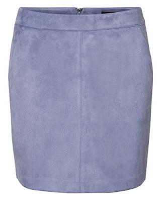 Vero Moda Dámska sukňa VMDONNADINA faux SUEDE SHORT SKIRT COL Blue Ice L