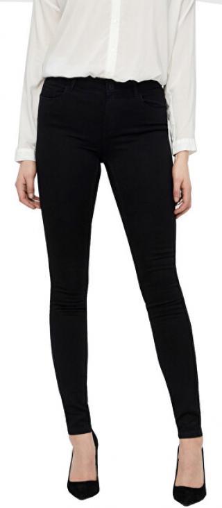 Vero Moda Dámske džínsy VMSEVEN NW S SHAPE UP JEANS VI506 Noosa Black L/30 dámské