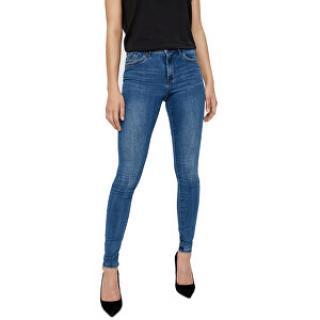 Vero Moda Dámske džínsy VMTANYA MR S PIPING JEANS VI349 Noosa Medium Blue Denim XL/30 dámské