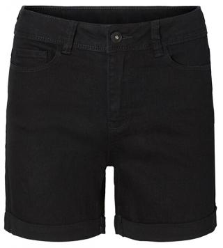 Vero Moda Dámske kraťasy Hot Seven Nw Dnm Fold Shorts Mix Noos Black XL